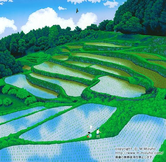 芒種の頃 棚田の初夏、 子供たちの遊び場はどこにでもある。 くねくねと曲がった畦...  初夏の