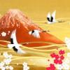 梅と赤富士
