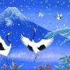 雪の青富士